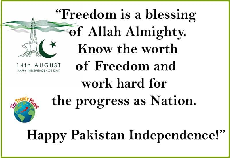 14 august wishes quotes in english